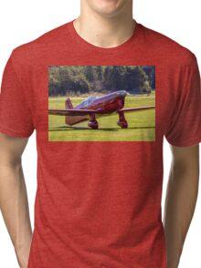 Percival Mew Gull replica G-HEKL taxies in Tri-blend T-Shirt