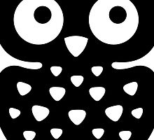 Black & White Owl by XOOXOO
