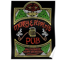 Merry & Pippin's Pub Poster