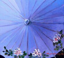 Blue parasol by Elizabeth Moore Golding