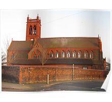 Really really red brick church Poster