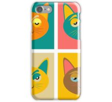 Four cats boredom and fatigue joy malice iPhone Case/Skin
