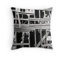 Decrepit Warehouse  Throw Pillow