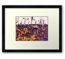 Landscape. ( Homage to Fred Williams ) Framed Print