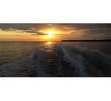 Florida Gulf Sunset Photographic Print
