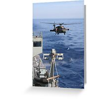 Coming In To Land  Greeting Card