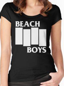 Black beach [dark] Women's Fitted Scoop T-Shirt