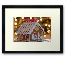 Little Gingerbread House Framed Print