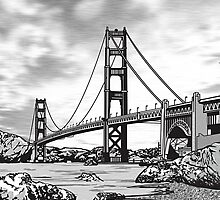 San Francisco Golden Gate Bridge by Doug LaRue