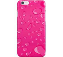 Water Droplets Pink iPhone Case/Skin