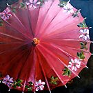 Red parasol by Elizabeth Moore Golding