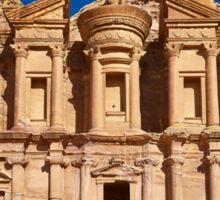 The Monastery Al Deir in ancient town Petra Sticker