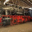 Steam locomotive of the class 55 of German railways. by trainmaniac