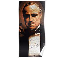 The Godfather Digital Oil Poster