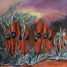Sturt&#x27;s Desert Pea by Elizabeth Moore Golding