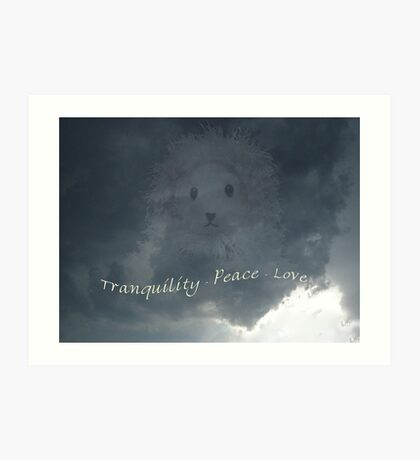Tranquility - Peace - Love Art Print