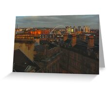 newcastle from the tyne bridge Greeting Card