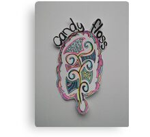 Colored Candy Floss Drawing Canvas Print