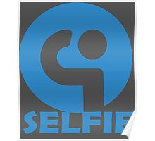selfie symbol icon of a self portrait photograph  Poster