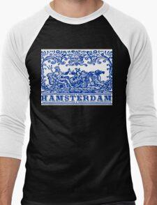 Traditional Tiles Amsterdam Azulejos  Men's Baseball ¾ T-Shirt