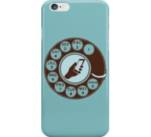 Dial numbers with analoque mobile phone iPhone Case/Skin