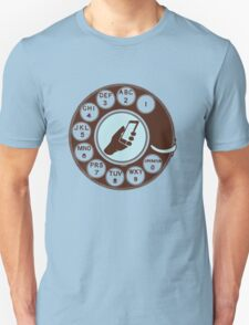 Dial numbers with analoque mobile phone Unisex T-Shirt