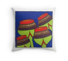 Red Arrowed Pods Throw Pillow
