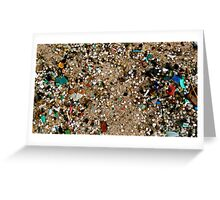 Plastic Tears in the Sand  Greeting Card
