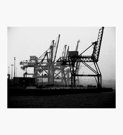 Rain on the docks Photographic Print