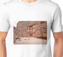 the treasury Nabataean ancient town Petra Unisex T-Shirt