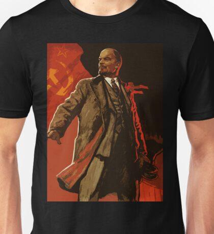 Lenin and us  - soviet union propaganda poster  Unisex T-Shirt