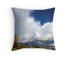 Stormy north Throw Pillow