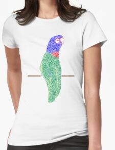 Ink Rainbow Lorikeet Womens Fitted T-Shirt