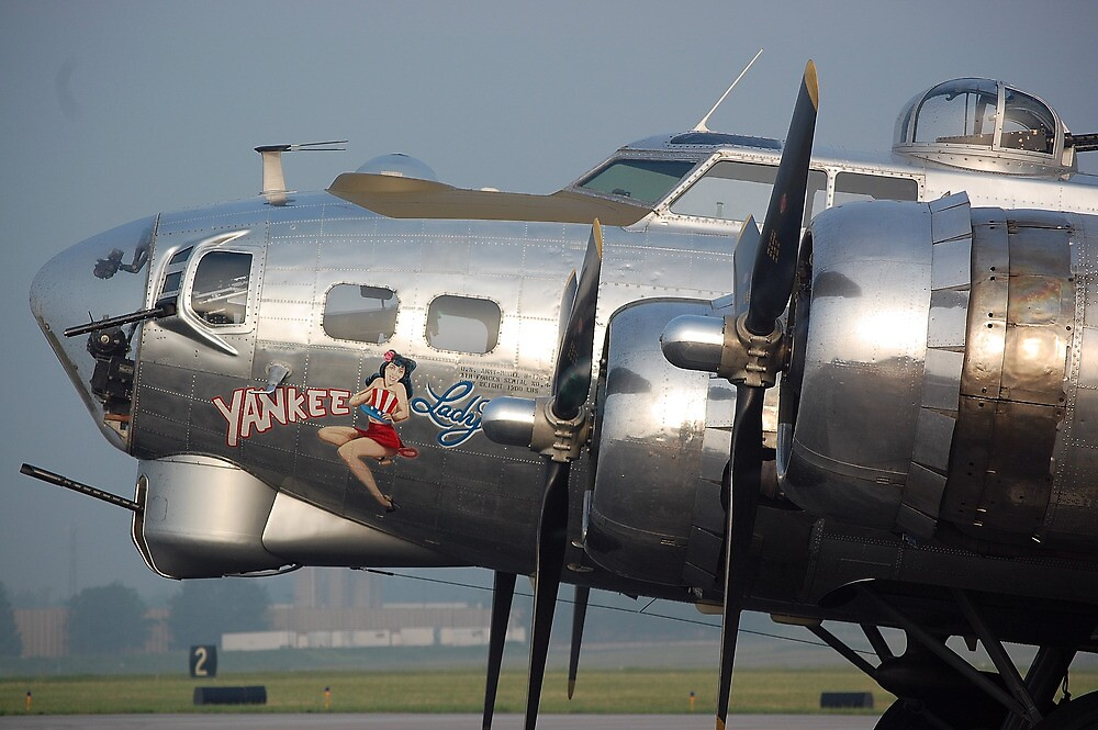 B-17 Yankee Lady by Steven Squizzero