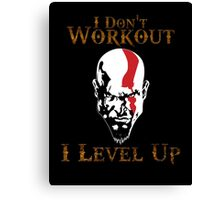 God of War - I Don't Work Out I Level Up - Gym Canvas Print