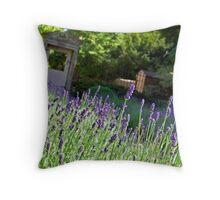 A Wiltshire country garden Throw Pillow