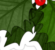 Large Holly Sticker