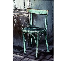 Old Egyptian chair  Photographic Print
