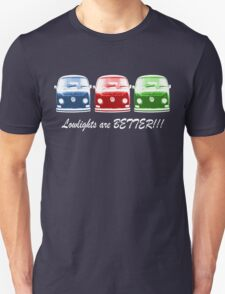 Lowlights are BETTER!! Kombi - Blue, Red, Green Unisex T-Shirt