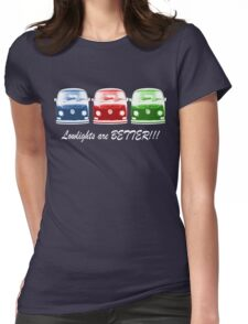 Lowlights are BETTER!! Kombi - Blue, Red, Green Womens Fitted T-Shirt
