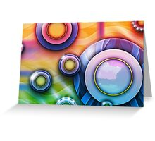 Colour Rings 2 Greeting Card