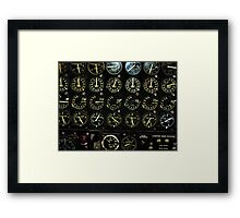 Gauges from the Past Framed Print