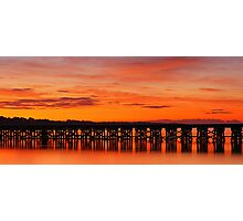 Reflected Trestle Photographic Print
