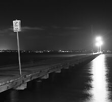 Preston Street Jetty B&W by Skye Harris
