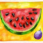 watermelon and plum by Svetlana Mikhalevich