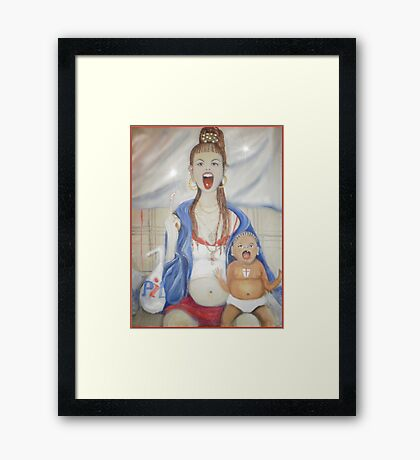 The Chav madonna #2 Framed Print