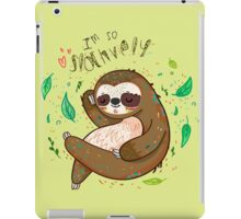 I am so slothvely iPad Case/Skin
