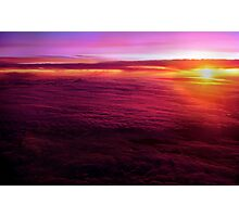 Sunset from 30,000 feet Photographic Print