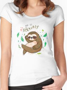 I am so slothvely Women's Fitted Scoop T-Shirt