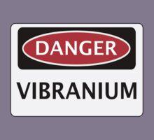 DANGER VIBRANIUM FAKE ELEMENT FUNNY SAFETY SIGN SIGNAGE Kids Clothes